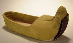 A thousand-year old Chinese silk shoe unearthed from a tomb dating back to Tang Dynasty (618 - 907)