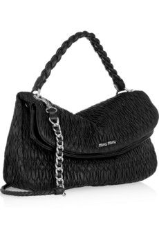 Black cloquet leather (Lamb) Braided top handle, detachable chain-trimmed  shoulder strap Designer plaque, silver hardware Internal pouch and  zip-fastening ... a6aad39de3
