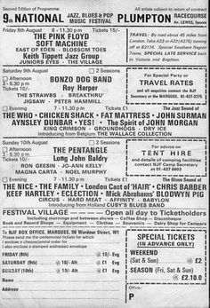 1969 Plumpton Festival.Ninth National Jazz and Blues festival
