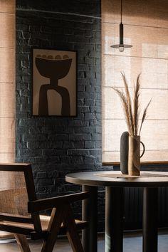 Lightroom, Adobe Photoshop, Swedish Interiors, Dark Interiors, Wabi Sabi, Tea Table Design, Hall And Living Room, Dark Ceiling, Tea Lounge