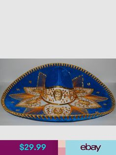 Various Pigalle Hats Mariachi Hat, Mexican Mariachi, Fiesta Decorations, Turquoise, Hats, Gold, Ebay, Hat, Green Turquoise