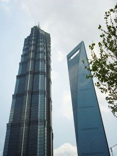 Tall Buildings in Shanghai, China