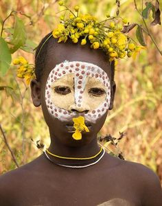 Ethiopian girl from the Surma tribe