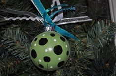 Painted ornaments, via Flickr.