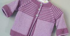 Garter Yoke Baby Cardigan free Knitting Pattern