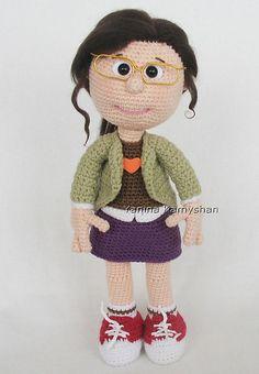 Ravelry: Girl in glasses pattern by Amigurumi Fair