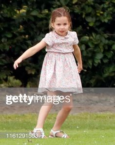 Princess Charlotte of Cambridge plays with a polo mallet as she attends the King Power Royal Charity Polo Match, in which Prince William, Duke of Cambridge and Prince Harry, Duke of Sussex were. Get premium, high resolution news photos at Getty Images
