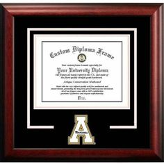 Appalachian State Mountaineers 8.5 inch x 11 inch Spirit Diploma Frame