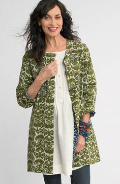 New Items - Reversible Malabar Jacket - River blue& green Fall Jackets, Jackets For Women, What To Wear Today, How To Wear, River Blue, Boho Fashion, Womens Fashion, Blue Leaves, Cotton Jacket