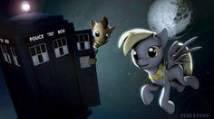 Doctor and Derpy by indexpony.deviantart.com on @DeviantArt