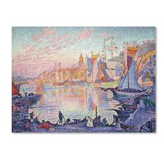 """Trademark Art 'The Port Of Sainttropez' by Paul Signac Print on Wrapped Canvas Size: 18"""" H x 24"""" W"""