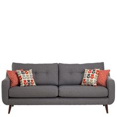Get a chic Scandi look with the modern mid century inspired Myers sofa from Barker and Stonehouse ❤ Turned legs, gentle curves and buttoned back cushions add to its appeal. Scandi Living Room, Living Room Sofa Design, Living Room Grey, Living Room Chairs, Living Room Decor, Bedroom Decor, Ercol Sofa, Modern Grey Sofa, Home Decor