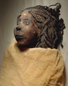 Giclee Print: Mummy of Queen Nedjemet, Wife of Herihor, Face Detail : Ancient Egyptian Art, Ancient History, Egyptian Things, Egyptian Artwork, Ancient Artifacts, Ancient Mysteries, Art Afro, Egypt Mummy, Kemet Egypt