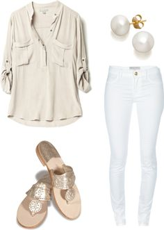 White and Beige- easy & chic spring/summer dressing