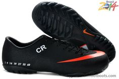 Black Orange Nike Mercurial CR7