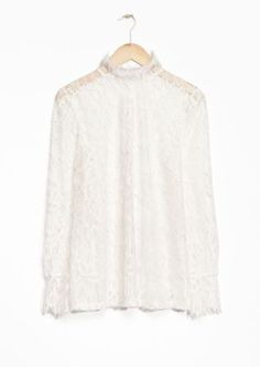 & Other Stories image 1 of Floral Lace Blouse in Off White
