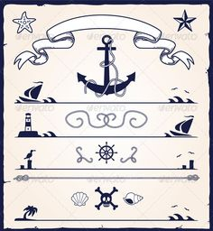 Stock Vector - GraphicRiver Nautical Design Elements 4548446 » Dondrup.com