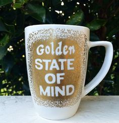 "Custom ""Golden State of Mind"" Mug by WholeLatteMugs on Etsy"