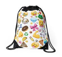 Emoji Collage Drawstring Bag