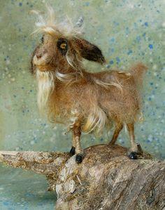 Ankara: Day 46 Needle Felted Angora Goat. $95.00, via Etsy.
