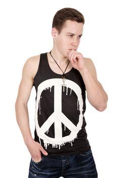 Peace Miesten Hihaton Toppi   Cybershop Boy Fashion, Fashion Tips, Tank Man, Autumn Fashion, Peace, Boys, Mens Tops, Shopping, Fashion For Boys
