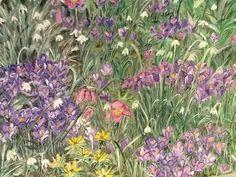 Frühlingswiese mit Tusche