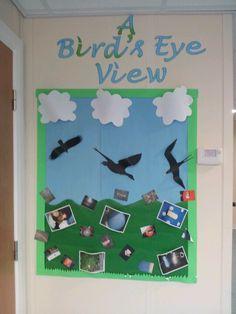 Geography work - photos of objects from a birds eye view Class Displays, Classroom Displays, Classroom Ideas, Birds Eye View Map, Creative Teaching, Teaching Ideas, Geography, The Neighbourhood, Pokemon