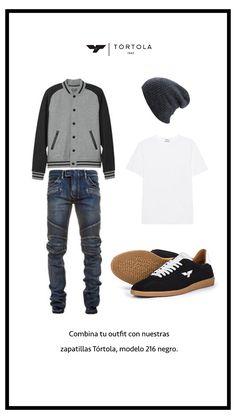 Combina tu outfit con nuestras zapatillas TÓRTOLA, modelo 216 negro.  #tortola #tortola1947 #zapatillastortola #tortolazapatillas #sneakerstortola #tortolasneakers #sneakers #zapatillas #shoes #calzado #footwear #walklikeus #madeinSpain #outfit
