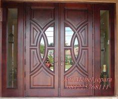 Pintu Double Swing Minimalis Terbaru 2016 kayu jati harga murah. produk kusen pintu minimalis perabot jati mebel jepara dengan kode JMJ - 012