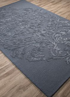 Wool and Viscose Material carpet in Blue color