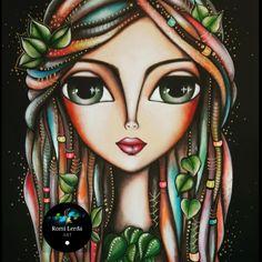 """""""Sólo en mi dolor, encontré mi voluntad. Sólo en mi caos, aprendí a estar quieto. Sólo en mi miedo, - romi_lerda_art Art Pop, Art Drawings Sketches, Whimsical Art, Big Eyes, Mosaic Art, Face Art, Mixed Media Art, Art Pictures, Art Girl"""