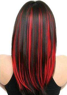 BLACK AND RED, i always wanted to do this to my hair