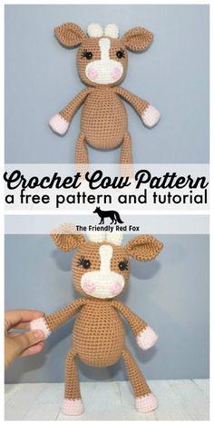 Crochet Cow Pattern - thefriendlyredfox.com