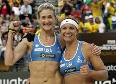 2012 USA Olympic Athletes - Kerri Walsh & Misty May-Treanor. (Medal Contenders-Beach Vollyball)