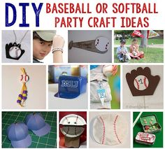 61 DIY Baseball Birthday Party Ideas   About Family Crafts