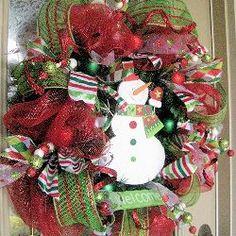 Christmas Mesh Wreath Tutorial by Kristen's Creations