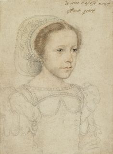 Hans Holbein (Sitter unidentified but very similar to a portrait of Mary Stuart, aged yrs. This appears to be a younger girl, possibly Mary? Mary Queen Of Scots, Queen Mary, Portrait Renaissance, Renaissance Art, Tudor History, British History, Asian History, Maria Stuart, Art D'ours