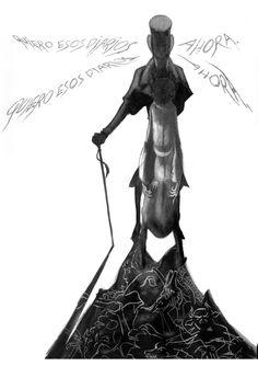 Pagina 18: lápiz,  tinta  aguada y Gouache sobre papel  dinA 3 -  300 €  David Belmonte ©