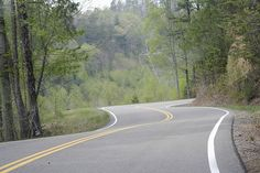 """""""Tail of the Dragon"""" on Route 129 in Blount County, Tennessee"""