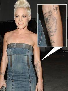 Pink's tattoo) #dogs #englishbulldog #art #celebrities #pink #tattoos #pets  #animals