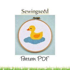 Rubber Duck Cross Stitch Pattern. $4.00, via Etsy.