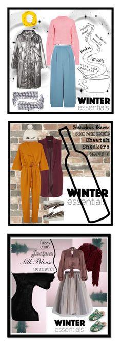 """Winter Essentials"" by tabitha-sloane on Polyvore featuring Kamik, Golden Goose, Preen, Topshop, Hermès, Wall Pops!, Miss Selfridge, Roksanda, STELLA McCARTNEY and Kate Spade"