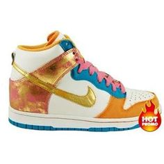 77f37d8cef12 Mens Nike Dunk High 6.0 Swan Metallic Gold