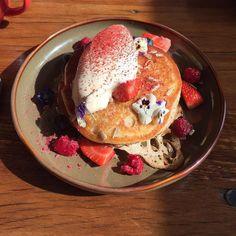 Breakfast on the Great Ocean Road Buckwheat Pancakes with ice cream and berries...unreal! #greatoceanroad #ApolloBay #travel #pancakes #breakfastgoals by sullivansjoe http://ift.tt/1LQi8GE