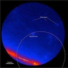 Descubren la posible fuente extragaláctica de una emisión de neutrinos (NASA/DOE/LAT COLLABORATION)