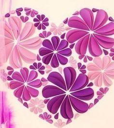 Quadro decorado com flores de papel - Vale o Clique!