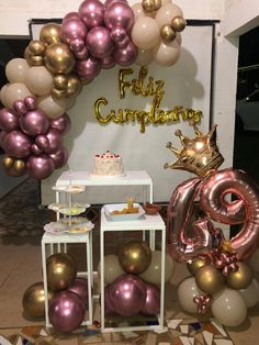 Balloon Decorations, Birthday Party Decorations, 18th Birthday Party, Happy Birthday, Birthday Cake With Flowers, Teddy Bear Gifts, Welcome To The Party, Ideas Para Fiestas, Event Decor