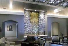Fine Indoor Waterfalls and Contemporary Water Features © 1999-2012 Origin Falls, Inc.
