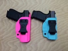 A couple IWB holsters heading out today. Hot pink Glock 19 and Tiffany Blue Glick 43. www.wolfhollowtactical.com #wolfhollowtactical #glock #glockgirls #glockinc #glockperfection #glock19 #glock43 #ladyshooters #girlswithguns #gungirls #ccw #edc #concealed #concealedcarry #holster