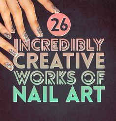The Disney ones are my faves, but all of these are awesome! | 26 Incredibly Creative Works Of Nail Art